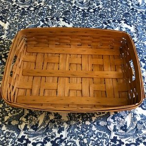 Longaberger serving tray basket with protector.